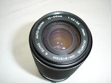 OLYMPUS  70-210mm f/ 4.5-5.6 OM manual focus lens OM SYSTEM  S ZUIKO SN97090650
