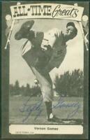 "Vernon ""Lefty"" Gomez HOF, Yankees, Signed - Autographed 1973-80 TCMA Postcard"