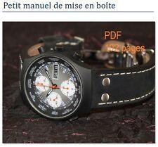 Manuel emboîtage montres (UNITAS, ETA 2824-2, 7750) - faites votre propre montre