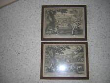 2 belles gravures 17e foin moisson agriculture.encadrée