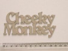 CHIPBOARD WORD - CHEEKY MONKEY