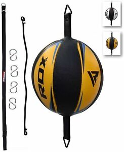 RDX Leather Double End Dodge Speed Ball MMA Boxing Floor to Ceiling Punch Bag JY