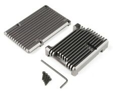 Raspberry Pi 4 Aluminum Heatsink Case - Magnetite Grey - New - Pimoroni -