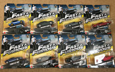 Fast & Furious Movie 8x Mattel Diecast Toy Cars  Maserati, Ford GT, Corvette NEW