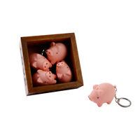 Cute Pig Shape LED Key Chain with Sound Key Ring Mini Flashlight Torch Kid Toy
