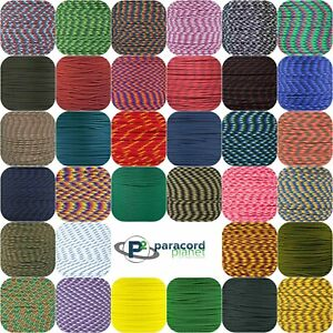 550 Paracord Rope (Parachute Cord) Mil Spec Type III 7 Strand - 25,50,100 Feet