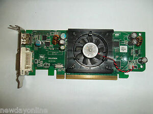 Dell ATI Radeon HD 3450 PCIe Graphics Card 256MB DVI HDMI SFF Low-Profile F343F