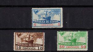 Set of 3 Airmail Stamps, Ecuador -az