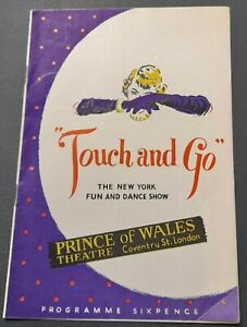 1950 Sid James (Carry On)  Prince of Wales Theatre programme Touch and Go Revue