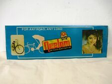 Vintage Neelam Bicycle Advertising Tin Sign Depicting Bollywood Madhuri Dixit *F