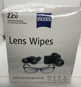 2 boxes ZEISS Lens Wipes Pre-Moistened Eyeglass Cleaning Wipes 220/box *SEALED*