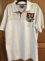 NWT Men's ECKO UNLTD Polo Shirt Size Large Cream