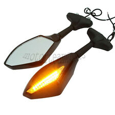2 X LED Turn Signals Integrated Side Mirrors for SUZUKI SV650S SV1000S TL1000R