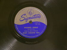 """MARY OSBORNE TRIO Hoodle Addle / What To Do Sanford Gold Signature 10"""" 78 rpm"""