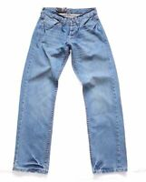 Men's Vintage COGGIE IDENTITY Button Fly Straight Blue Denim Jeans W28 L32 New