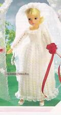 SINDY/BARBIE WEDDING DRESS - 4ply - COPY doll knitting pattern