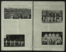 Oxford Cambridge University Cricket Match 1910 2 Page Article 6504