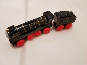 Thomas The Tank Engine & Friends WOODEN HIRO WOOD TRAIN PLAYWORN COMBI POST