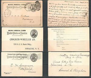 USA Post Card Grant UY3 Set of 3 Used