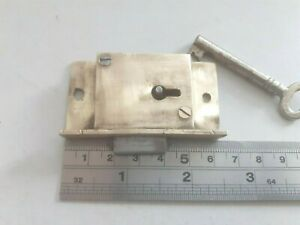 Roll Top Desk-Piano Lock 1 Key (2407)  63mm x 33mm 3 Lever