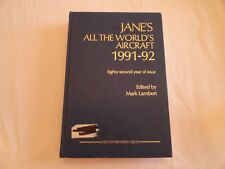 Jane's All the World's Aircraft:1991-1992 HARDBACK EX-LIBRARY  GOOD CONDITION
