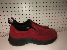 L.L. Bean Womens Suede Slip On Moccasins Slippers Loafers Size 7 M Red