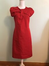 Jil Sander Red Bow Dress Italy Size 38