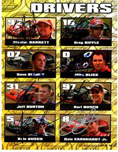 2005 NASCAR 41 Cup drivers original hand signed autographs