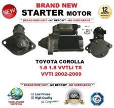 Para Toyota Corolla 1.6 1.8 VVTLi TS VVTi 2002-2009 Motor Arranque 1.3 kW 10 dientes