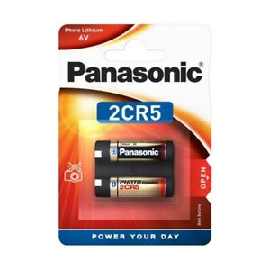 1x 2CR5 2CR5M Foto-Batterie Lithium 6V von PANASONIC