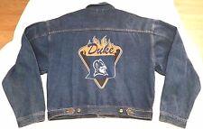 Duke Blue Devils In The Paint Basketball Gear jean jacket men sz XL NCAA NBA 90s