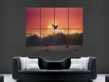 Surf puesta de sol Mar olas de imagen imagen grande de Pared Cartel