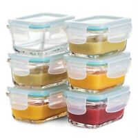 Superior Glass Baby Food Storage Containers - 6pice 4Oz Containers Airtight Lids