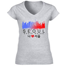 Seoul South Korea - NEW COTTON GREY LADY TSHIRT
