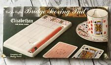 "Elizabethan Fine Bone China ""Cut For Coffee"" Bridge Scoring Pad Stocking Stuffe"