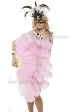 "Pink  Marabou & Ostrich Feather Fan 24""x43"" with gift box burlesque"