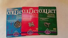 1998 Hallmark Keepsake Ornament 25th Anniversary complete Collector Pin Set 3 S1