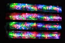 Flashing LED Happy Birthday banner 1st-60th party decorations light up Bunting