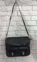 Vintage PRINZ Hard Camera Case/Bag Leather Handle Vinyl Shoulder Strap Buckle