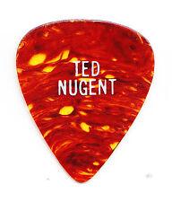 Vintage Ted Nugent Brown Faux Tortoise Guitar Pick - 1979 Tour