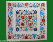 "23"" Marble Table Top Inlay Pietra dura Handmade Work Home Decor"