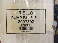 NEW! RIELLO 3007802, C7001010, 7001010 OIL PUMP FOR F3 thru F15 (INCLUDING COIL)