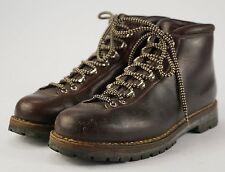 Vintage FABIANO Brown Leather Mountain Trail Hiking Boots 12.5 M Made in Italy