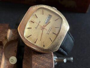 Mens automatic vintage ACCURIST Swiss d/d WATCH 21 JEWELS ETA 2789 CA 1975