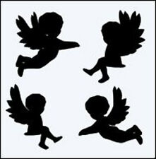 WINGED CHERUBS RE USEABLE MYLAR STENCIL - A5 - IMAGE APPROX 7 x 5cm - INNERS INC