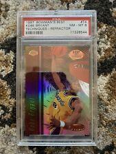 1997 Kobe Bryant BOWMANS BEST TECHNIQUES REFRACTOR #T4 PSA 8 NM-MT VERY LOW POP!