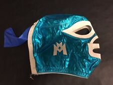 Mexican Wrestling Mask Nacho Libre Ramses Fray Tormenta Blue Turquoise