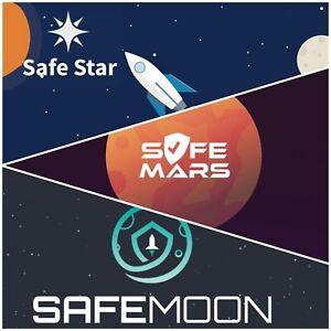 SAFEMOON + SAFEMARS + SAFESTAR 🚀- 10,000,000 EACH, ⭐ BUNDLE, INSTANT DELIVERY