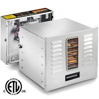 STX Dehydra 1200W-XLS 10 Tray Stainless Steel Food Dehydrator - 165°F Jerky Safe