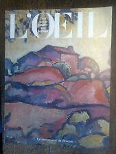 L'oeil revue d'art 323 / juin 1982 / le centenaire de Braque